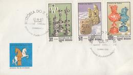 Enveloppe  FDC  1er  Jour  GUINEE  BISSAU    Histoire  Des  Jeux  D' Echecs   1983 - Echecs