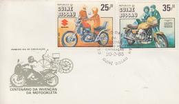 Enveloppe  FDC  1er  Jour    GUINEE   BISSAU   Centenaire  De  La  Motocyclette   1985 - Motos