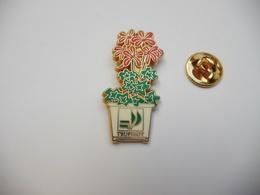 Beau Pin's En Zamac , Jardinerie Truffaut , Fleur , Signé Ballard - Pin's