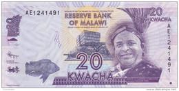 Malawi - Billet De 20 Kwacha - 1er Janvier 2012 - Neuf - Malawi
