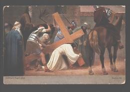 Kruisweg / Chemin De  Croix - Painting Gebhard Fugel - White Back - Station III - Jésus