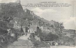 Le Teil (L'Ardèche Artistique) - Le Pigeonnier, Ruines D'un Château Fort - Edition Valadier Mascetty - Le Teil