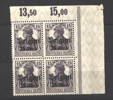 Belgien,16bII,Abklatsch,ECK-VB,xx,Falz Im Rand  (3750) - Besetzungen 1914-18