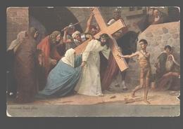 Kruisweg / Chemin De  Croix - Painting Gebhard Fugel - White Back - Station IV - Jezus