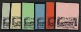 Guyane - 1933 - Poste Aérienne PA N°Yv. 11 à 18 - 6 Essais Sans Valeur ND - Neuf Luxe ** / MNH / Postfrisch - French Guiana (1886-1949)