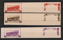 Guyane - 1942 - Poste Aérienne PA N°Yv. 21 - 3 Essais Couleurs ND - Neuf Luxe ** / * - French Guiana (1886-1949)