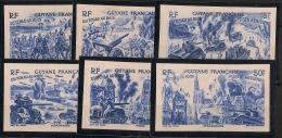Guyane - 1946 - Poste Aérienne PA N°Yv. 29 à 34 - Essais Couleur Bleue - NSG / MNG - French Guiana (1886-1949)