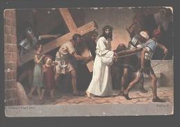 Kruisweg / Chemin De  Croix - Painting Gebhard Fugel - White Back - Station V - Jezus