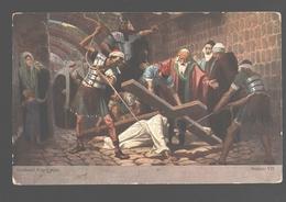 Kruisweg / Chemin De  Croix - Painting Gebhard Fugel - White Back - Station VII - Jezus