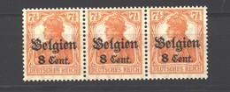 Belgien,13aII,C Von Cent Abgeschliffen,Teilauflage Feld 37,xx (3750) - Besetzungen 1914-18