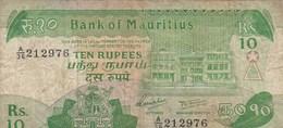 Ile Maurice - Billet De 10 Rupees - Non Daté - Mauritius