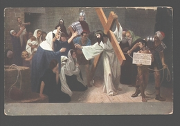 Kruisweg / Chemin De  Croix - Painting Gebhard Fugel - White Back - Station VIII - Jésus