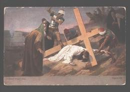 Kruisweg / Chemin De  Croix - Painting Gebhard Fugel - White Back - Station IX - Jezus