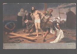 Kruisweg / Chemin De  Croix - Painting Gebhard Fugel - White Back - Station X - Jezus