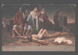 Kruisweg / Chemin De  Croix - Painting Gebhard Fugel - White Back - Station XI - Jezus