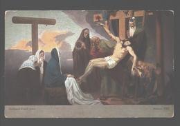 Kruisweg / Chemin De  Croix - Painting Gebhard Fugel - White Back - Station XIII - Jezus