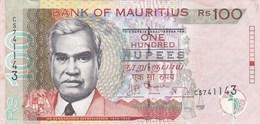 Ile Maurice - Billet De 100 Rupees - Renganaden Seeneevassen - 2012 - Mauritius
