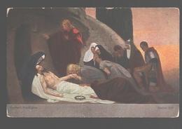 Kruisweg / Chemin De  Croix - Painting Gebhard Fugel - White Back - Station XIV - Jezus