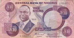 Nigeria - Billet De 10 Naira - Alvan Ikoku - Non Daté - Nigeria
