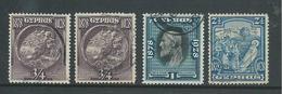 Cyprus 1928 50th Anniversary 4 Values (3/4 Pi. X 2,1 & 2.5 Pi) FU - Chypre (République)
