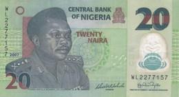 Nigeria - Billet De 20 Naira - Général Murtala R. Muhammed - 2007 - Polymère - Nigeria