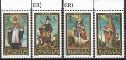 2003  Liechtenstein   Mi. 1326-29*MNH   14 Nothelfer - Liechtenstein