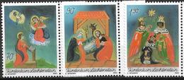 2003  Liechtenstein   Mi. 1330-2**MNH   Weihnachten: Hinterglasbilder - Liechtenstein