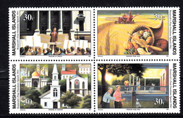 Marshalleilanden 1991 Mi Nr 338 - 341 Second War:  4 Vrijheden Door Franklin D. Roosevelt - Marshalleilanden