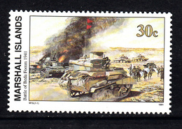 Marshalleilanden 1991 Mi Nr 342 Second War:  De Slag Om Beda Fomm - Marshalleilanden