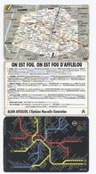 PETIT PLAN DU METRO AVEC PUB AFFLELOU   -B1 - Transportation Tickets