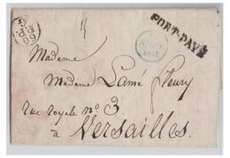 """FRANCE -- PARIS 1831 -- LETTRE EN PORT PAYE -""""60 /P.P./G"""" POUR VERSAILLES -- - Marcophilie (Lettres)"""