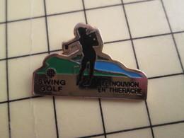 Pin411h Pin's Pins / Rare Et De Belle Qualité / SPORTS : SWING GOLF LE NOUVION EN THIERACHE - Golf
