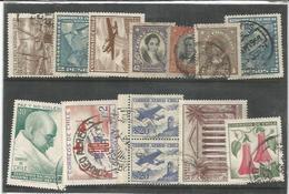 Cile, 13 Francobolli, Tematiche Gandhi, Colombo, Posta Aerea, Monoliti Isola Di Pasqua. - Chile