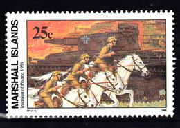 Marshalleilanden 1989 Mi Nr 244 Second War:  Invasie In Polen, Tank - Marshalleilanden