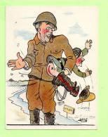"""TROIS Cartes  """"  Signé ALDRI  """" Guerre 39/45 - Guerre 1939-45"""