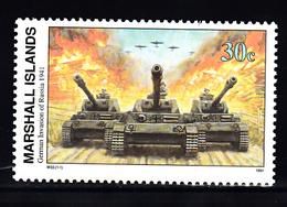 Marshalleilanden 1991 Mi Nr 361 Second War:  Invasie In Rusland, Tank, Airplane - Marshalleilanden