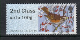GB 2015 QE2 2nd Class Up To 100 Gm Post & Go Redwing Bird ( R758 ) - Great Britain