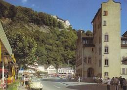 Liechtenstein - Vaduz . Hauptstrasse , VW Volkswagen Bug Beetle 1971 Nice Stamps - Liechtenstein