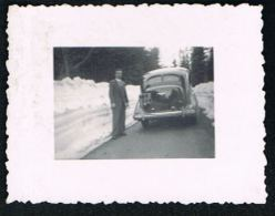 PHOTO AUTO  Immatriculée 738 N - Route Enneigée Format  5,5  X  4,3 Dentelée -   Couple -  Paypal Sans Frais - Automobile