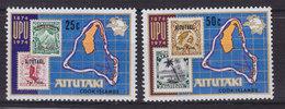 Aitutaki 1974 Mi. 118-19 UPU Weltpostverein 100 Jahre Anniversary Complete Set MNH** - Aitutaki