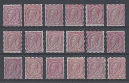 18 X Nr 46 * Zonder Gom - 1884-1891 Leopold II