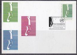 UNO 2001 Vienna Dag Hammerskjold 1v Maxicard  (37978) - Maximumkaarten