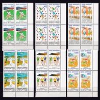 1993 San Marino Saint Marin GIOCHI DEL MEDITERRANEO GAMES 4 Serie Di 6v. In Quartina MNH** Bl.4 - Francobolli
