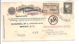 Certificado-Registered-Recommandé-Sunbeam Label. AR.CEFALINA>Holland - Mexiko