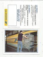 Calendrier , Petit Format , 4 Pages , Chemin De Fer , Train , LA POSTE , 3 Scans - Small : 1991-00