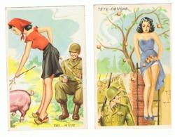 Humour Militaire - Lot De 2 CP - Illustrateur ? - Armée (fr57) - Illustratoren & Fotografen