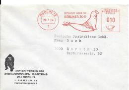 Berlin Orts Drucksache Mit Werbestempel Berliner Zoo  1962  Seelöwe - Berlin (West)