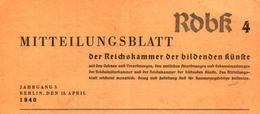 Mitteilungsblatt Der Reichskammer Der Bildenden Kuenste/Heft4 / Zeitschrift/1940 - Books, Magazines, Comics