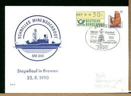 DEUTSCHE - GANZSACHEN - BREMEN STAPELLAUF  SM343 - MINEN - [7] Repubblica Federale