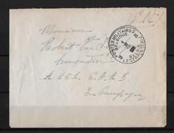 1916 POSTES MILITAIRES → Lettre à England - Weltkrieg 1914-18